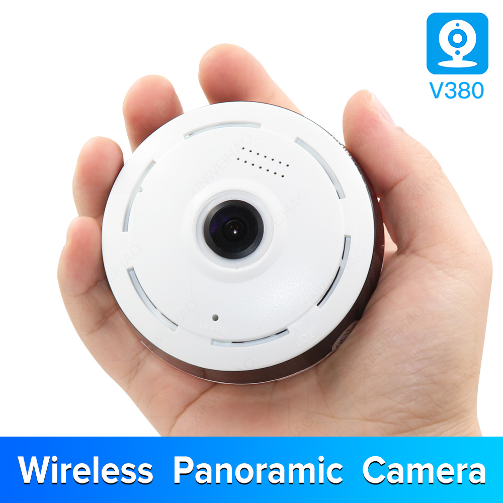 1.3MP/2.0MP Full View WIFI 360 Degree Two Way Audio Panoramic 960P/1080P Fisheye Wireless Smart IP Camera V380 Mini Camera