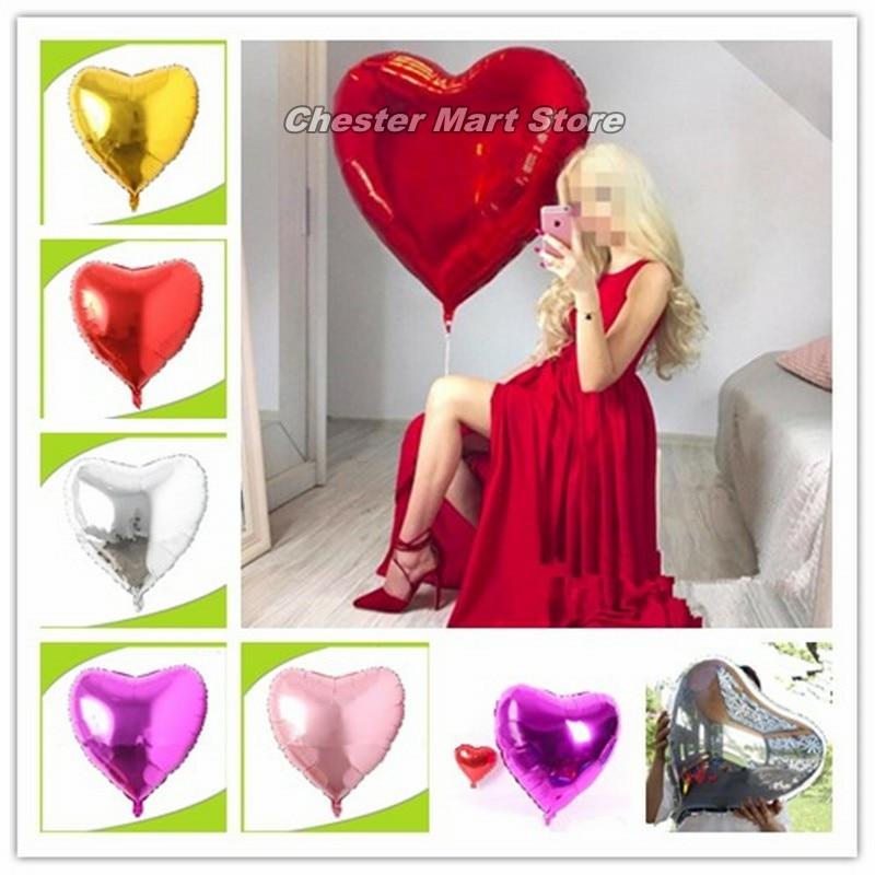2PCS 32 inch 75CM large love aluminum foil balloon Valentines Day wedding party shop decoration