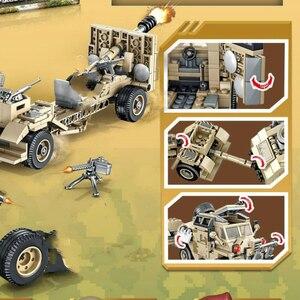 Image 3 - 464 Miếng WW2 Loạt Xe Tăng Anh Howitzer Xe Kéo Khối Xây Dựng Mô Hình Viên Gạch WW2 Nhân Vật Quân Sự Đồ Chơi