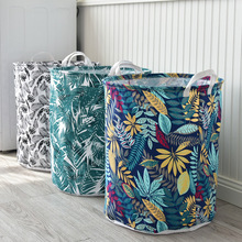 Bohemian Style Clothes Finishing Storage Bucket Large Cotton and Linen Waterproof Storage Storage Containers Laundry Basket 1010 american country style big size american flag foldable sundries storage bucket cotton and linen laundry bucket