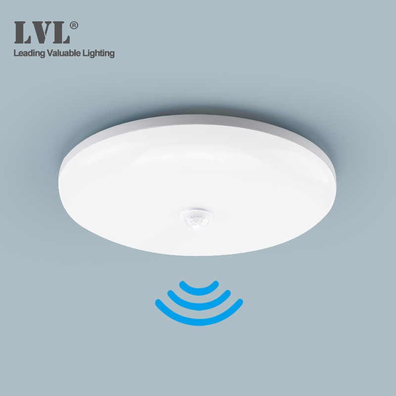 LED PIR Motion Sensor Ceiling Light 18W 36W 85-265Vac Surface Mounted Modern Ceiling Lamp For Hallways Corridor Aisle Stairways