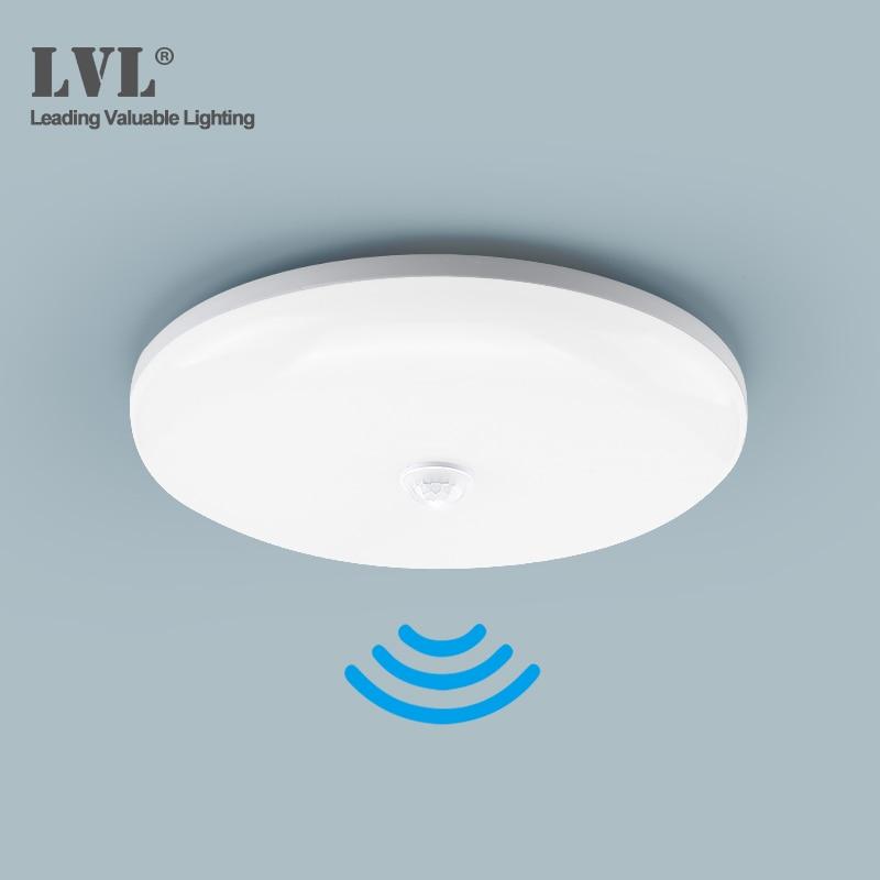LED PIR Motion Sensor Ceiling Light 18W 36W 85-265Vac Surface Mounted Modern Ceiling Lamp For Hallways Corridor Aisle Stairways