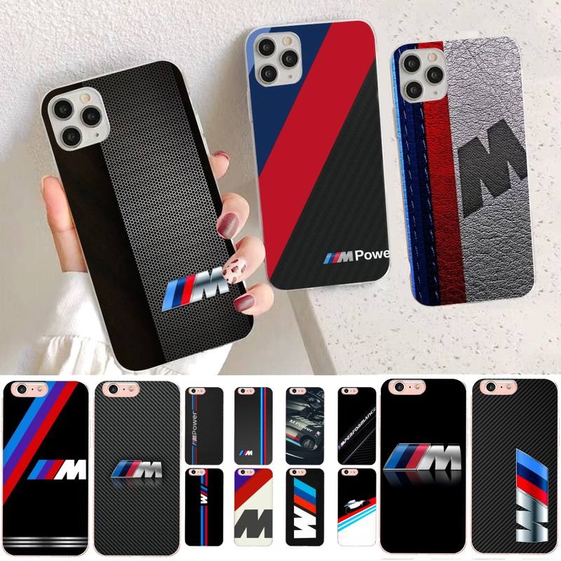 YNDFCNB Hot Car BMW Logo Phone Case for iPhone 11 12 pro XS MAX 8 7 6 6S Plus X 5S SE 2020 XR case image