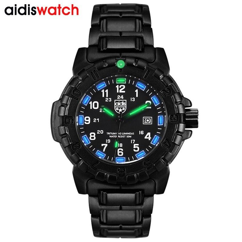 Aidis Brand Source Tritium Nightlight Men's Watches Outdoor Sports Multifunctional Waterproof Men's Quartz Watches Customization