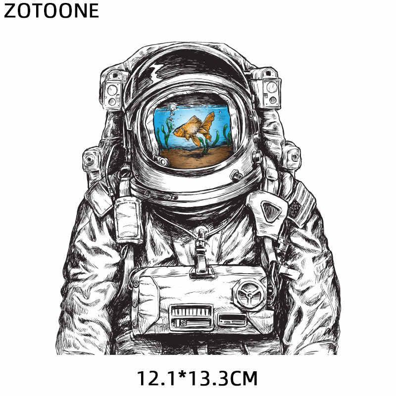 Zotoone Ijzer Op Cool Astronaut Patch Voor Kleding T-shirt Heat Transfers Toepassingen Diy Patches Voor Kids Applicaties Stickers E