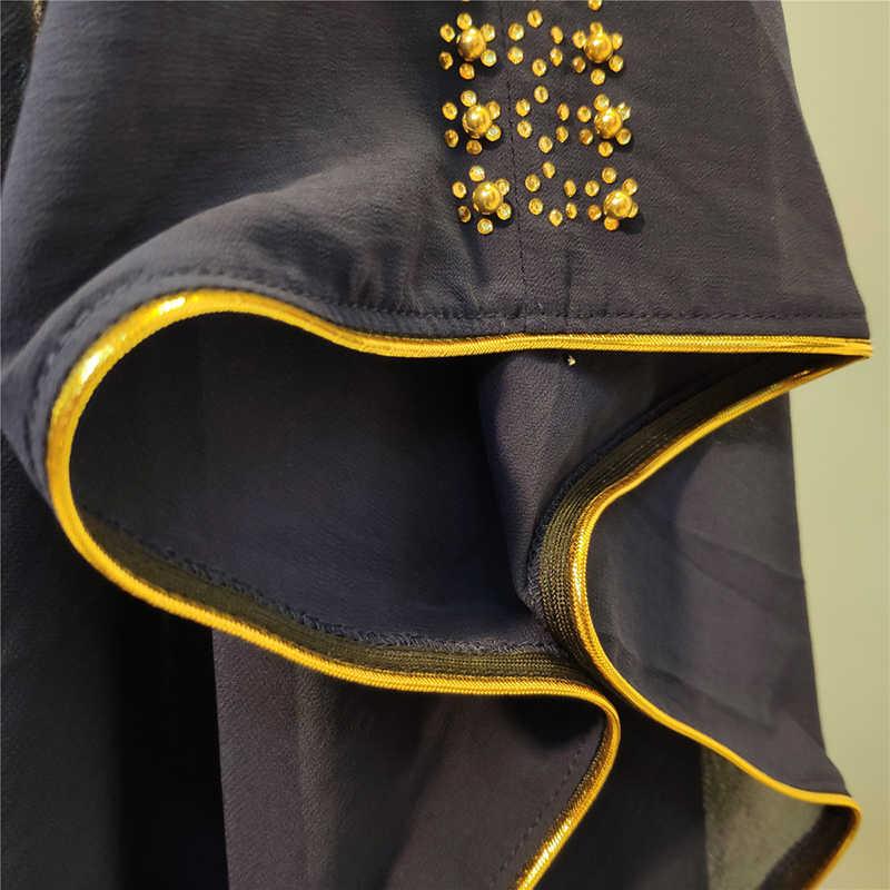 오픈 두바이 Abaya 기모노 카디건 터키어 Hijab 이슬람 드레스 여성을위한 이슬람 의류 Kaftan Caftan Robe Musulman Djelaba Femme