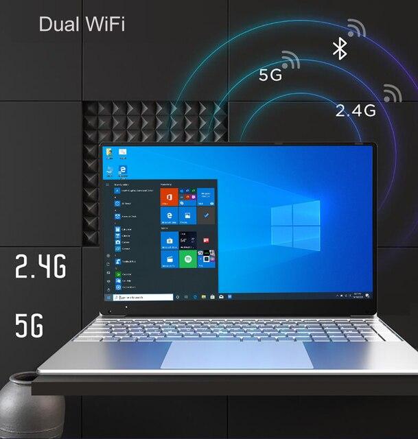 Intel Laptop 15.6 inch Windows 10 Pro 1920*1080 Cheap Portable Laptop Ram 12GB Rom 128GB SSD 500GB 1TB HDD HDMI Port Notebook 5