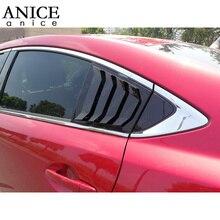 2pc מבריק Frede לוח חלון צד רפפות Vent trim fit עבור Mazda6 ATENZA 2014 2015 2016 2017 2018 2019 2020