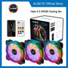 Alseye Halo 4.0 120mm Computer Led Case Fan kit Adjustable RGB PC Cooling Cooler With Remote Controller