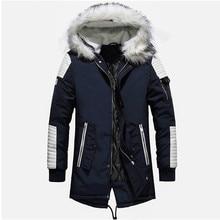 Jacket Coat for Winter Thicken Warm Men Minus 40 Degrees Cotton-Padded Outwear Fur Collar Hooded Windbreaker Parka Plus Size 3XL цена в Москве и Питере