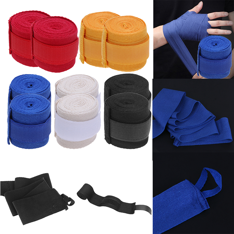 Sports Straps Cotton Kick Boxing Bandage Sanda Taekwondo Hand Wrist Wraps S E9K5