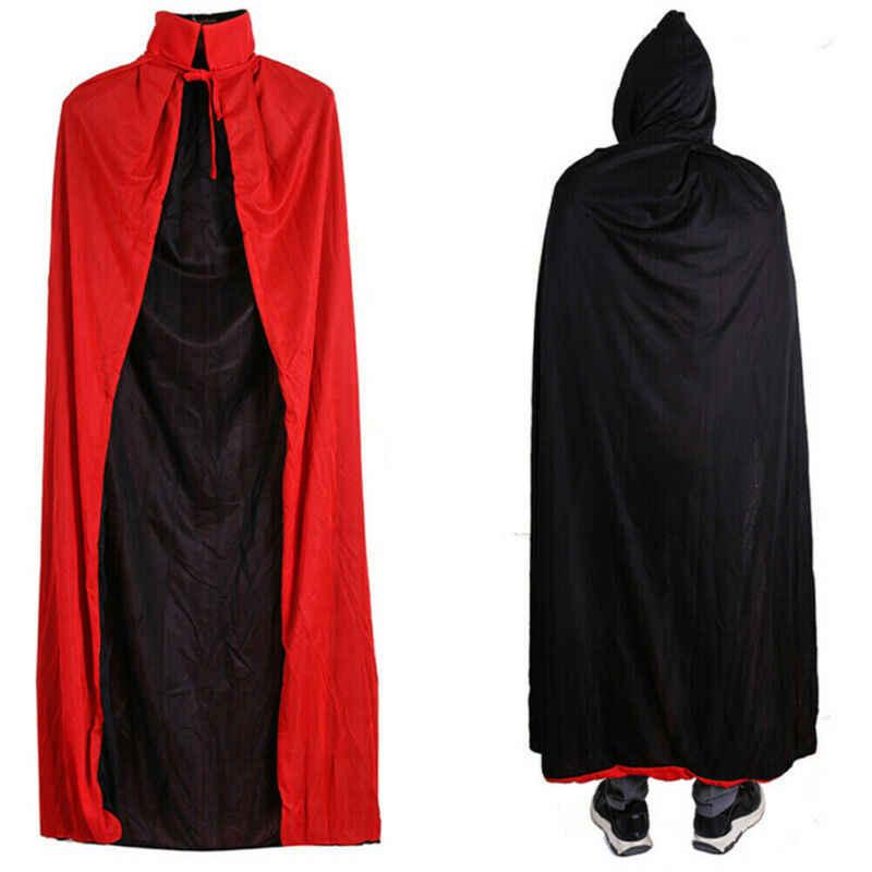 ハロウィンコスプレ吸血鬼のマント可逆大人の衣装ドラキュラ悪魔岬ユニセックス男性と女性吸血鬼ケープフード付きマント