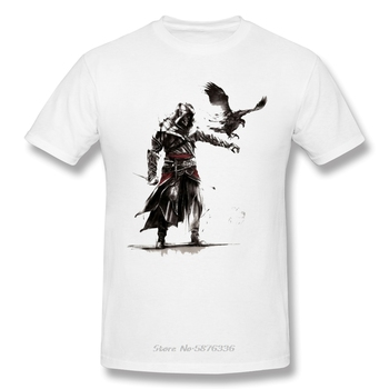 Men Assassins Creed T-Shirts Funny Round Neck Short Sleeve Tops Tatuajes Trash Polka Pure Cotton Tees Harajuku tShirt - discount item  5% OFF Tops & Tees