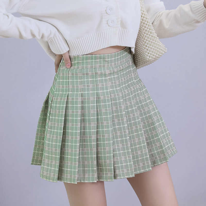 Nieuwe Zomer Rok Hoge Taille Vrouwen Plaid Rok Preppy Stijl School Uniformen Harajuku Mode Geplooide Rok Dans Rok XS-XXL