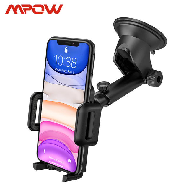 Mpow CA032 Car Phone Holder Stand with Adjustable Dashboard phome Mount & Washable Sticky Pad (Universal)