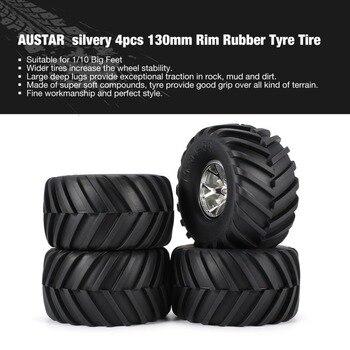 2019 AUSTAR 4 piezas AX-3003 130mm llanta de neumático de la rueda de cubo de plástico para 1/10 RC grande pies modelo HSP HPI Beadlock piezas de repuesto fz