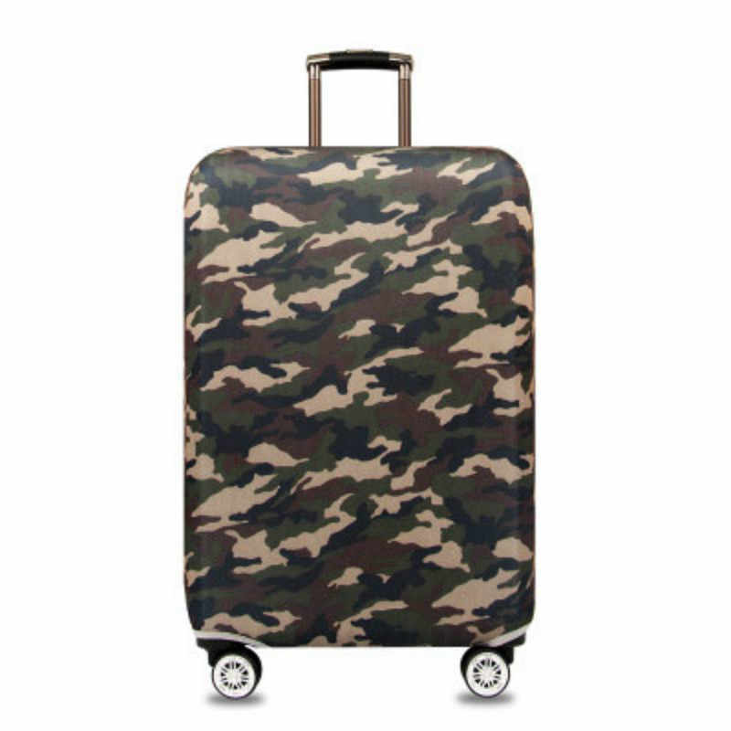 Thickened Elastic Camouflage Trunk Cover Waterproof Dustproof Luggage Cover Fit 18 -32 Inch Fashion Travel Suitcase Cover
