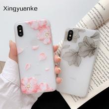 Kwiaty pokrywa dla Samsung Galaxy A20S A750 A6 Plus A7 A8 2018 A3 A5 J3 J5 J7 2016 2017 Pro A31 2020 Silicone Case tanie tanio XINGYUANKE CN (pochodzenie) Zwykły Cartoon Przezroczysty Soft Case GALAXY serii GALAXY J SERIES GALAXY A8 2018 GALAXY A8 + 2018