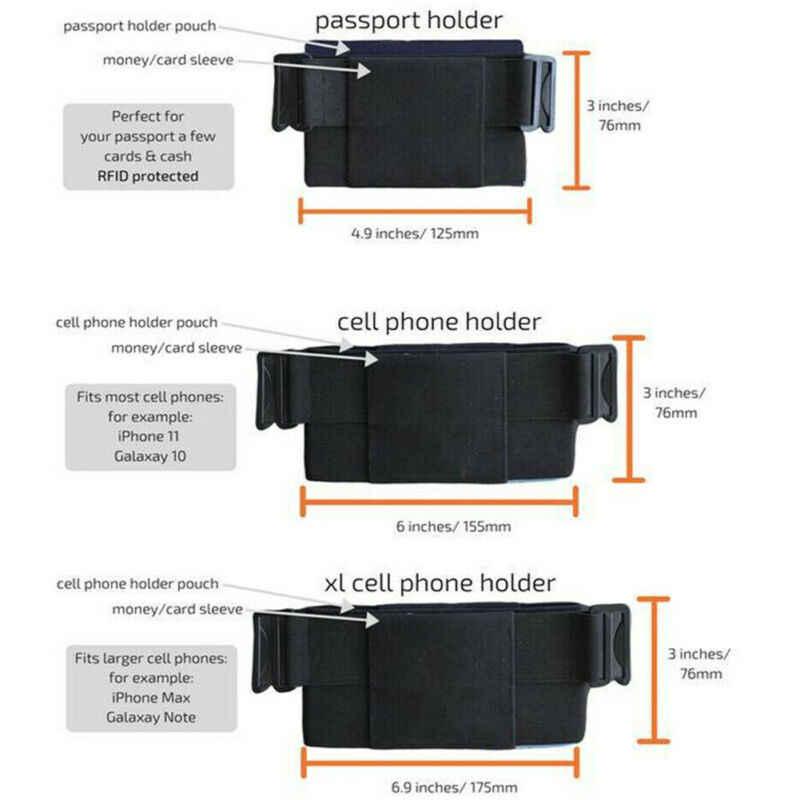 Portafoglio ultrasottile marsupio portafoglio invisibile minimalista moda Cool Mini Pouch Key Card Phone