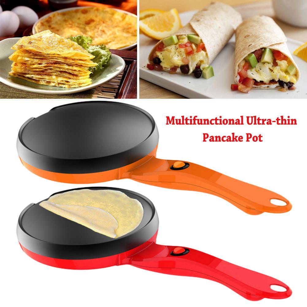 Multifunctional Ultra-thin Pancake Pan Non-stick Electric Scones Pot 600W Omelette Pot For Desktop Or Kitchen Countertops