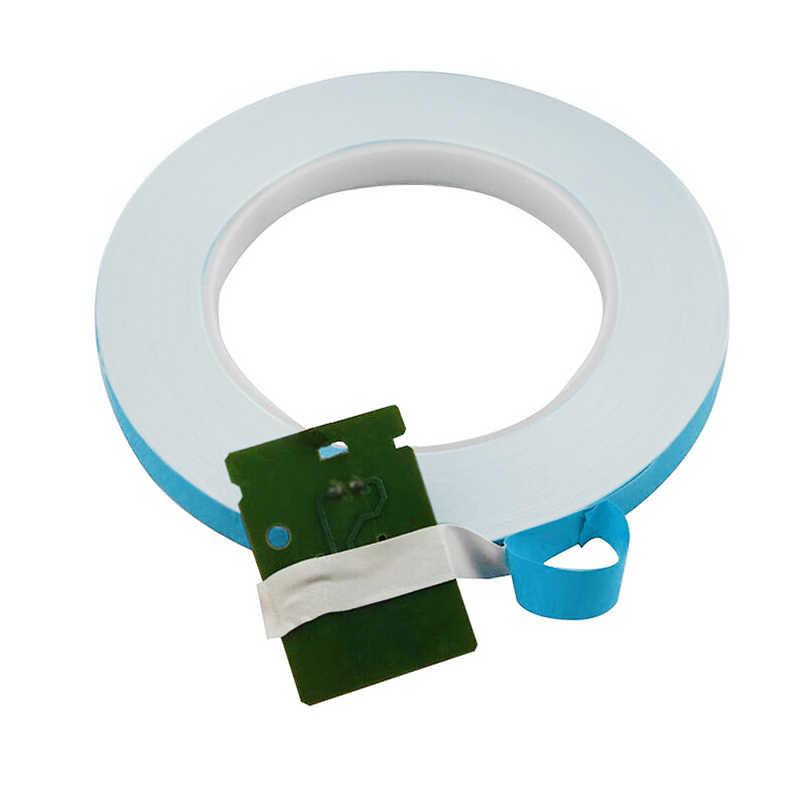 25 m/rolo 3mm 5mm 8mm 10mm 12mm 15mm 18mm 20mm ultra-fino dupla face fita de isolamento térmico-adesivo para led cpu gpu dissipador de calor