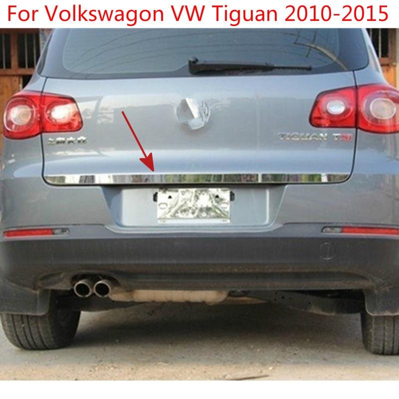 Pour volkswagen Tiguan 2010 2011 2012 2013 2014 2015 couvercle de couvercle de coffre arrière en acier inoxydable de haute qualité style TrimCar