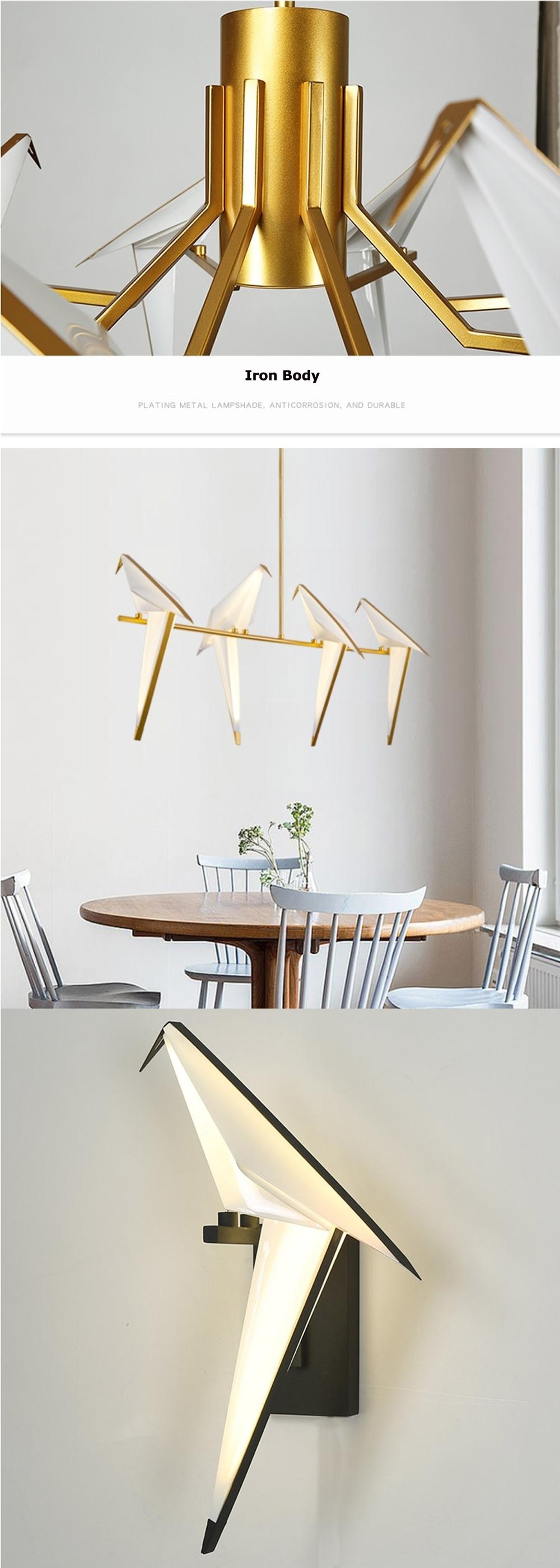 Hfcaae8eba1e74d4c842f124720f373dda - LED Postmodern Iron Acryl Love Bird LED Lamp LED Light Wall lamp Wall Light Wall Sconce For Bedroom Corridor