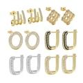 Новые поступления, циркониевые серьги с микрозакрепкой для женщин, медные позолоченные алмазные плетеные круглые серьги «сделай сам», Подв...