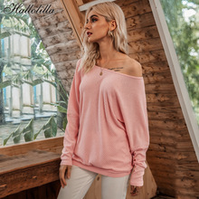 Autumn Spring Threaded T Shirt Women Sexy Off Shoulder Batwing Sleeve T-shirt Top Tee Woman Clothes Shirts Harajuku Tops Tees
