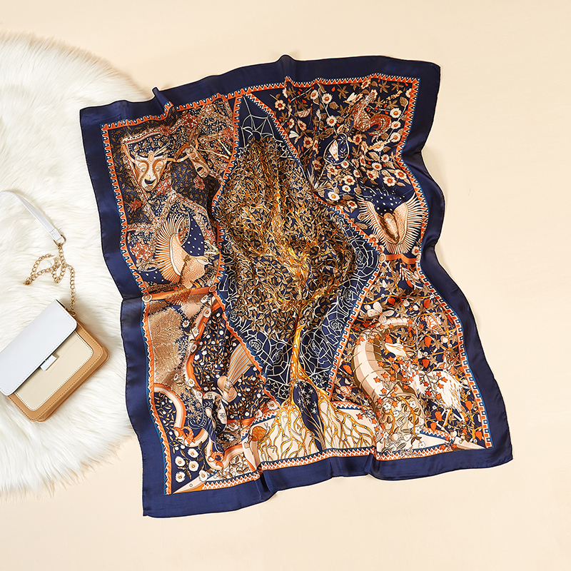 Square Shaped Silk Scarf