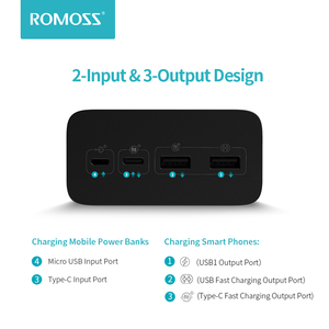 Image 4 - ROMOSS Zeus 40000mAh Power Bank 18W PD QC 3.0 Two way Fast Charging Powerbank Type C External Battery Charger For iPhone Xiaomi