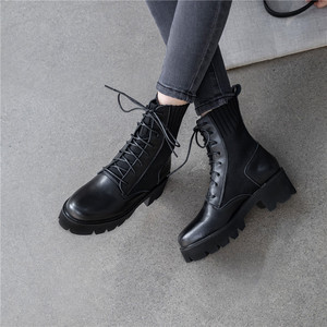 Image 5 - FEDONAS New Winter Warm Women Knee High Boots Night Club Shoes Woman Genuine Leather Knitting Long Boots Fashion Riding Boots