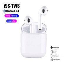 Bluetooth 5.0 Earphone Mini Earbuds i9S TWS Smart Wireless Headphones with Charg