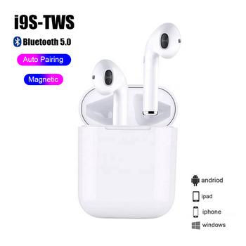 Słuchawki Bluetooth 5 0 minisłuchawki i9S TWS inteligentna bezprzewodowa słuchawka z etui z funkcją ładowania zestawu słuchawkowego tanie i dobre opinie Sicneka Dynamiczny wireless 110±2dbdB Nonem Do Gier Wideo Wspólna Słuchawkowe Dla Telefonu komórkowego Sport Apt-X 32ΩΩ