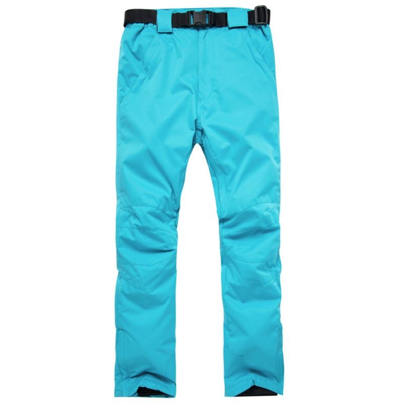 Outdoor Men & Women Skiing Pants High Quality Windproof Waterproof Warm Couple Snow Trousers Winter Solid Ski Snowboarding Pants