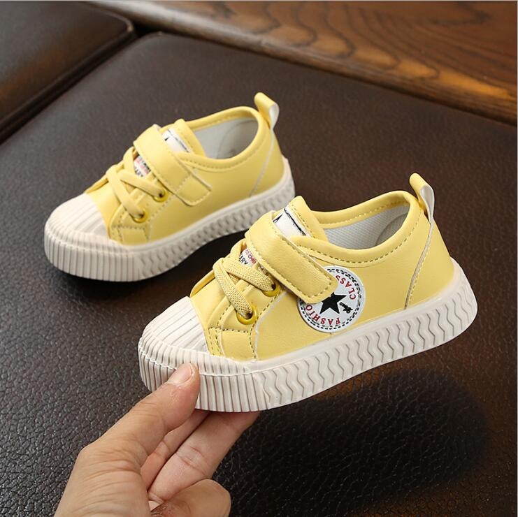 New Spring Autumn Girls Sneakers White Fashion Toddler Shoes Baby Kids Shoes For Girl Children Canvas Shoes Boys