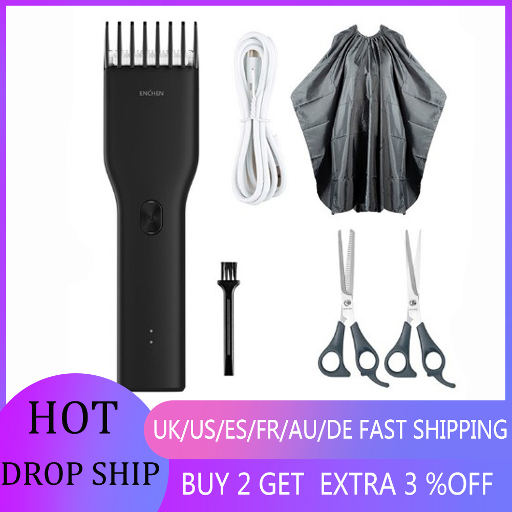 In Stock Rechargeable Hair Trimmer Hair Cut Clipper USB Two Speed Ceramic Cutter Hair Cutter For Children Adult Hair Clipper