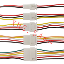 JST XH2.54mm 2P 3P 4P 5P 6P Male Female Plug Socket Wire Cable Connector JST XH2.54mm Pitch 2.54mm 2-6Pin Connector 20CM 26AWG