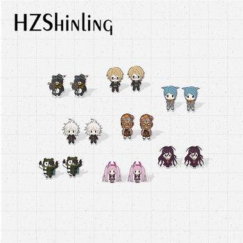2020 New Anime D4 Zettai Zetsubou Shoujo Danganronpa Acrylic Resin Epoxy Earrings Handmade Shrinky Dink - discount item  30% OFF Fashion Jewelry