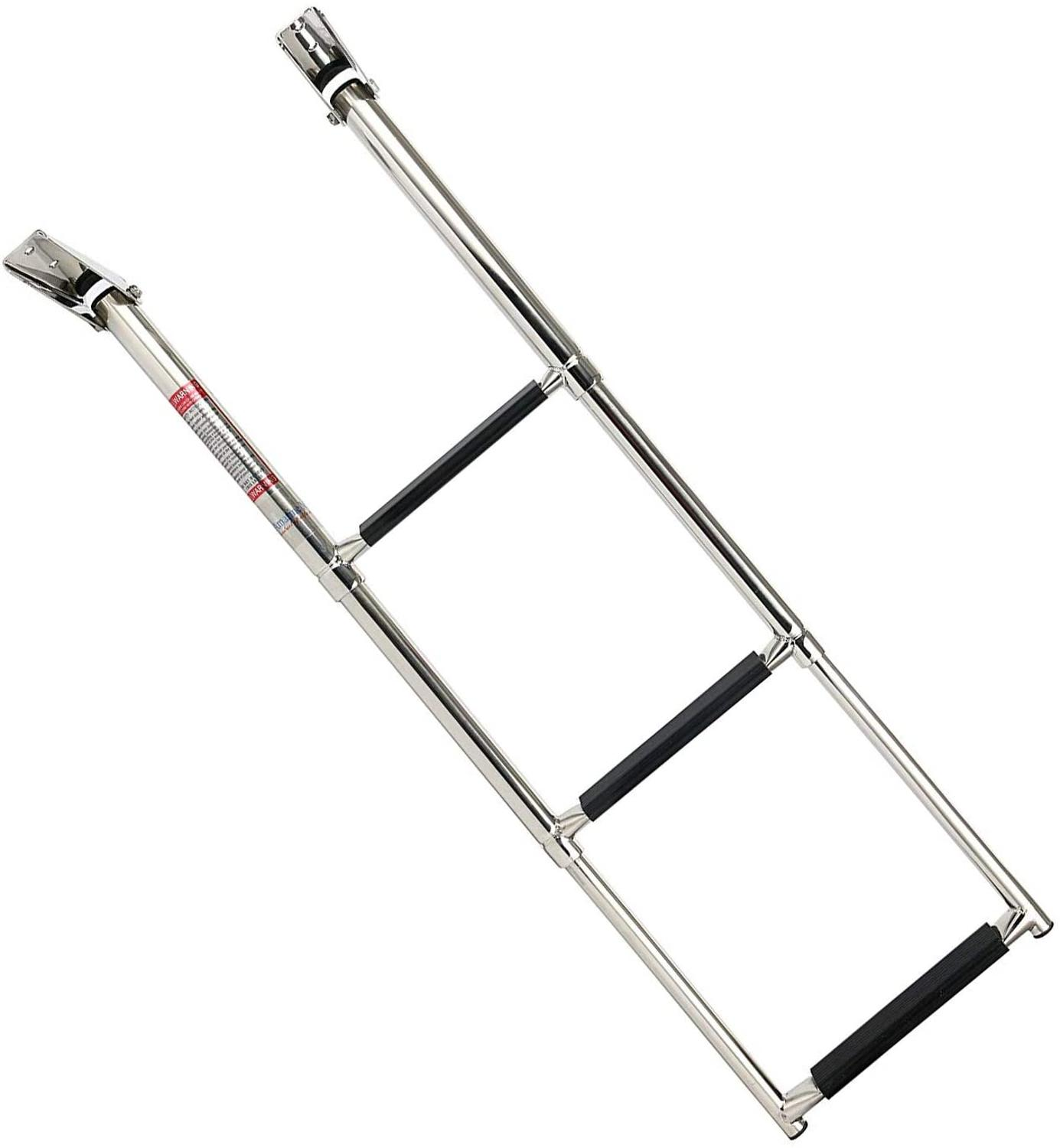 Boat Accessories Marine 3 Step Stainless Steel Telescopic Boat Ladder Swim Step