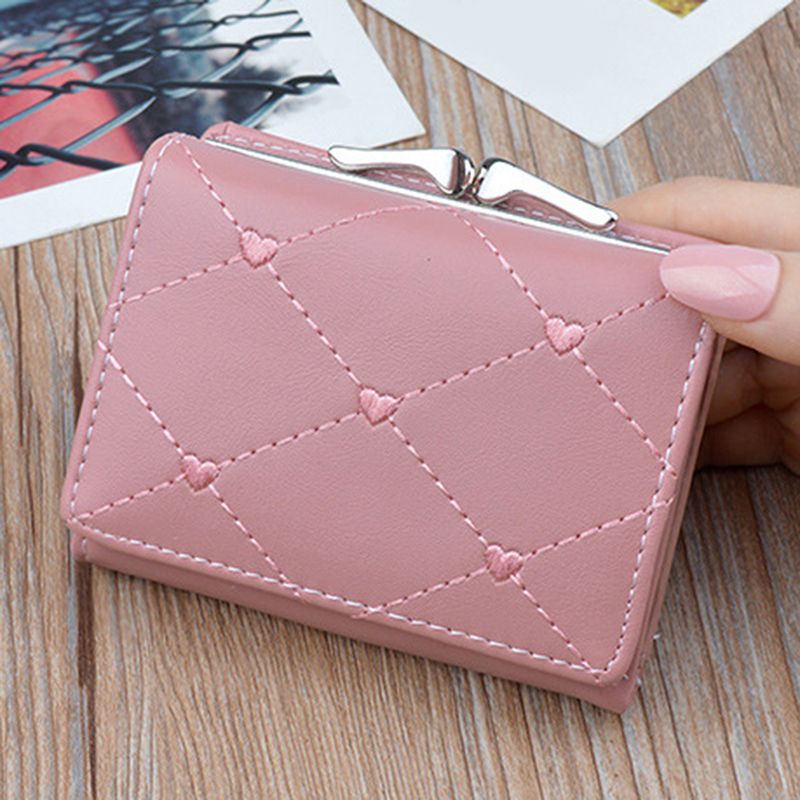 Woman's Wallet New Fashion Women Wallets Short Style Multi-functional Wallet Purse PU Leather Female Clutch Card Holder