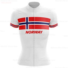 Norway Women Cycling Jersey Bike Top Shirt Summer Short Sleeve MTB Cycling Clothing Ropa Maillot Ciclismo Racing Bicycle Clothes(China)