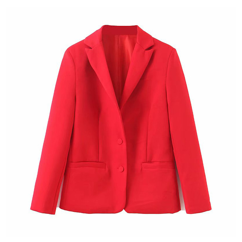 Casual Blazers Suit Coat Jacket Blaser Long-Sleeved Autumn Office Lady Single-Breasted