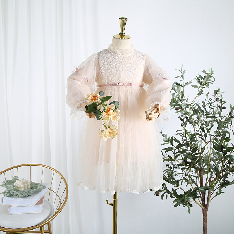 Robe de princesse pour enfants automne 2019 nouvelle robe pour enfants filles robe de princesse robe pour enfants CUHK robe en maille pour enfants