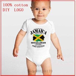 Niemowlę noworodek Reggae & Beach Country-Jamaica Portland Flag body niemowlęce dziewczyny chłopcy kombinezon z krótkim rękawem pajacyki ubrania