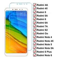 Vetro protettivo a schermo intero 9D su Redmi Note 4 4X 5 5A 6 Pro vetro per Xiaomi Redmi 4X 4A 5A 5 Plus 6 6A S2 Go 7A pellicola temperata