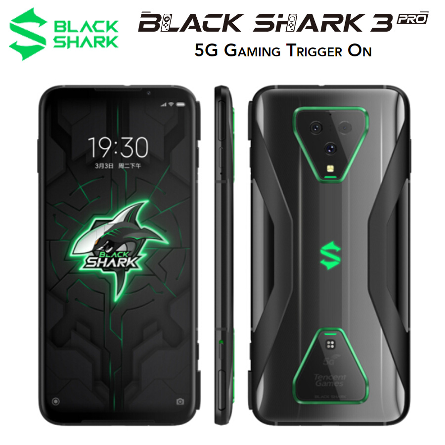Global Version Xiaomi Black Shark 3 Pro 5G Mobile Phone 7.1 12GB RAM 256GB ROM Snapdragon 865 Android 10 Dual SIM Gaming Phone image