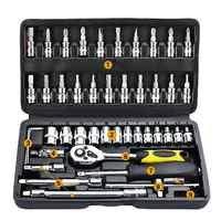46 teile/satz Professionelle Schraubenschlüssel Hardware Auto Boot Motorrad Reparatur Tools Kit Multitool Hand Werkzeuge Auto-Styling