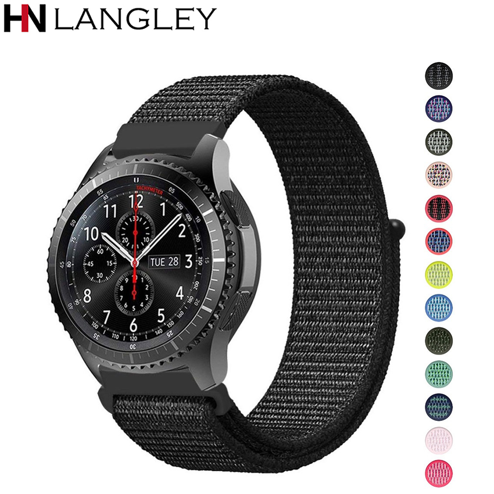 20/22 Mm Lug Width Nylon Loop Watch Band For Samsung Galaxy Watch 42/46 Mm Strap Gear S2 Classic S3 Frontier Amazfit Watch Strap