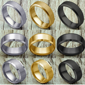 Ring Men Titanium Black/Gold 2020 Fashion Titanium Steel Black Classic Ring For Men Wedding Bands Male Jewelry